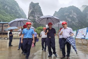 河池市长唐云舒莅临河化指导,推进产业园建设